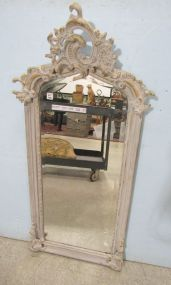 Louis Philippe Painted Distressed Ornate Mirror