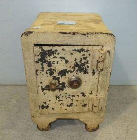 Antique Painted Iron Safe
