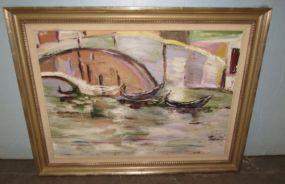 Cathy Crockett Oil Painting of Venice