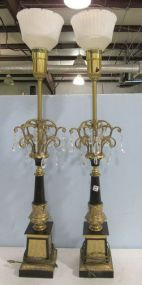 Pair of Vintage Rembrandt Style Table Lamps