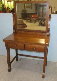 Vintage Oak Two Drawer Vanity