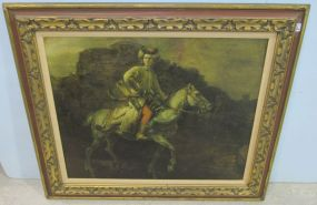 Antique Style Giclee Painting of English Horsemen