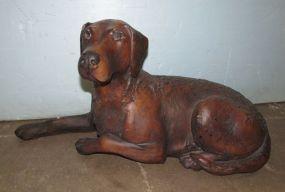 Bronzed Tone Ceramic Lab Statue