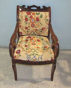 American Empire Style Arm Chair