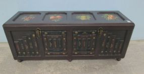 Hand Painted Storage Trunk