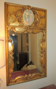 Reproduction Gold Trumeau Mirror