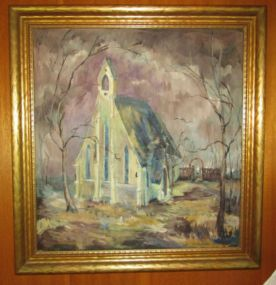 Elsie Mangum Oil Painting of  Chapel of the Cross