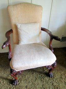Early 20th Century Eagles Leather Library Chairs Armchair