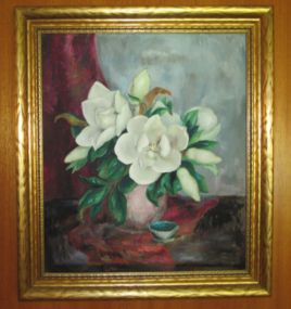 Elsie Mangum Oil Painting of Magnolias