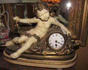 Francois Moreau French figural mantle clock