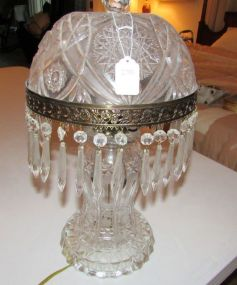 Press Glass Hurricane Lamp