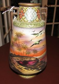 Hand Painted Nippon Vase