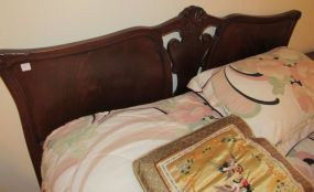 Vintage Mahogany Ball-n-Claw Double Bed