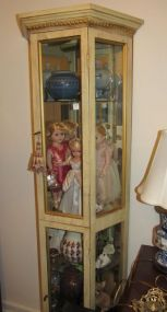 Painted French Provincial Display Cabinet