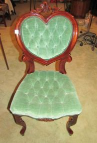Victorian Style Heart Back Side Chair