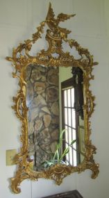 Gold Ornate Chippendale Style Mirror