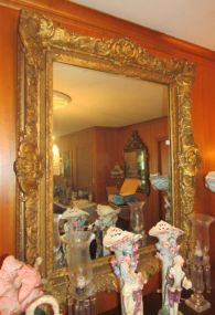 Heavy Ornate Gold Framed Mirror