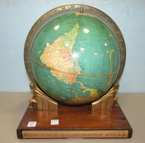 1937 Repogle Globe & Atlas On Stand