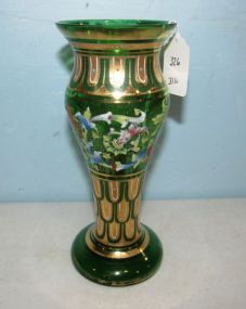Signed Handpainted Moser Vase