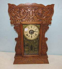 Antique Oak Kitchen Clock