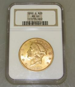 1899 Liberty Head Double Eagle $20 Gold Coin