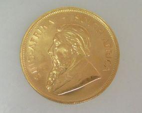 1980 Gold Krugerrand Coin