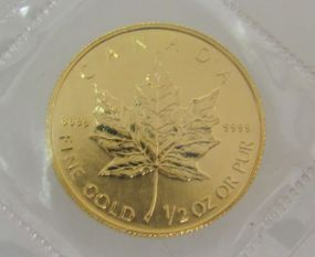 $20 Dollar Gold Maple Leaf Coin