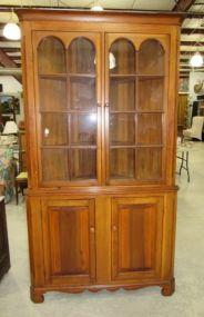 Handmade Primitive Style Corner Cabinet