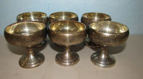 Six Sterling Wine Cups