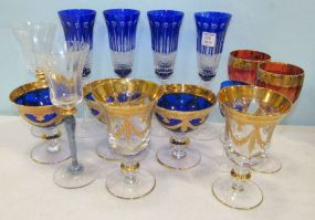 Fourteen Color Wine Glasses