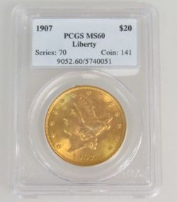 1907 Liberty Head $20 Gold Coin