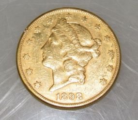 1898 Liberty Head $20 Gold Coin