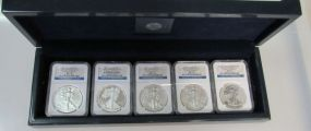 2011 Anniversary Silver Eagle Set MS/PF70
