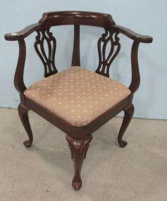 Ethan Allen Mahogany Corner Chair
