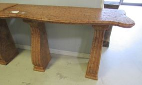 Marble Three Piece Entrance Table