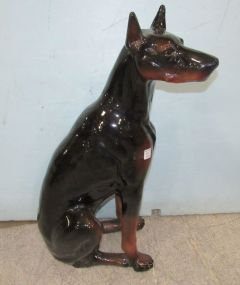 Large Porcelain Doberman Statue