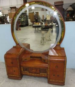 Art Deco Waterfall 1930s Vanity and Bench