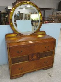 Art Deco Waterfall 1930s Dresser