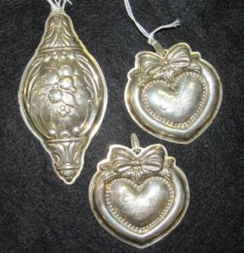 Three Sterling Pendant Ornaments
