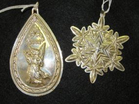 Two Sterling Pendant Ornaments