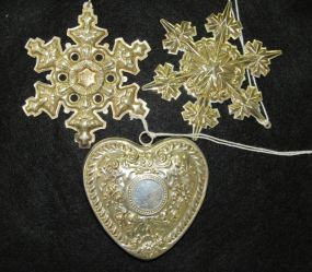 Three Sterling Ornaments