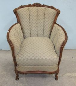 French Style Gentlemans Parlor Chair