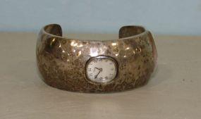 J.W. Sterling Clock Cuff Bracelet