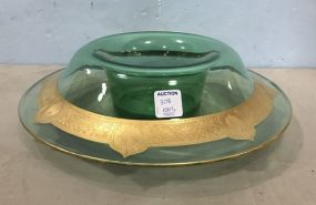 Large Vintage Venetian Glass Bowl