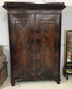 Antique Victorian Style Double Door Armoire