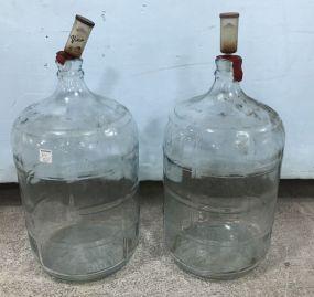Pair of CRISA Glass Carboys 5 Gallon