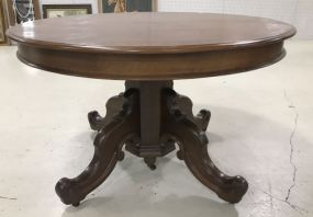 Renaissance Revival Round Dinning Table
