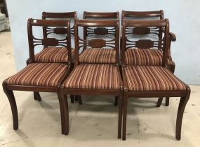 Six Duncan Phyfe Style Dinning Chairs