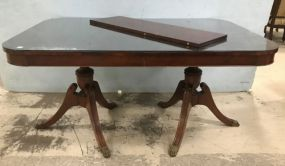 Duncan Phyfe Style Double Pedestal Dinning Table