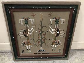 Navajo Religious Ceremonial Sand Painting